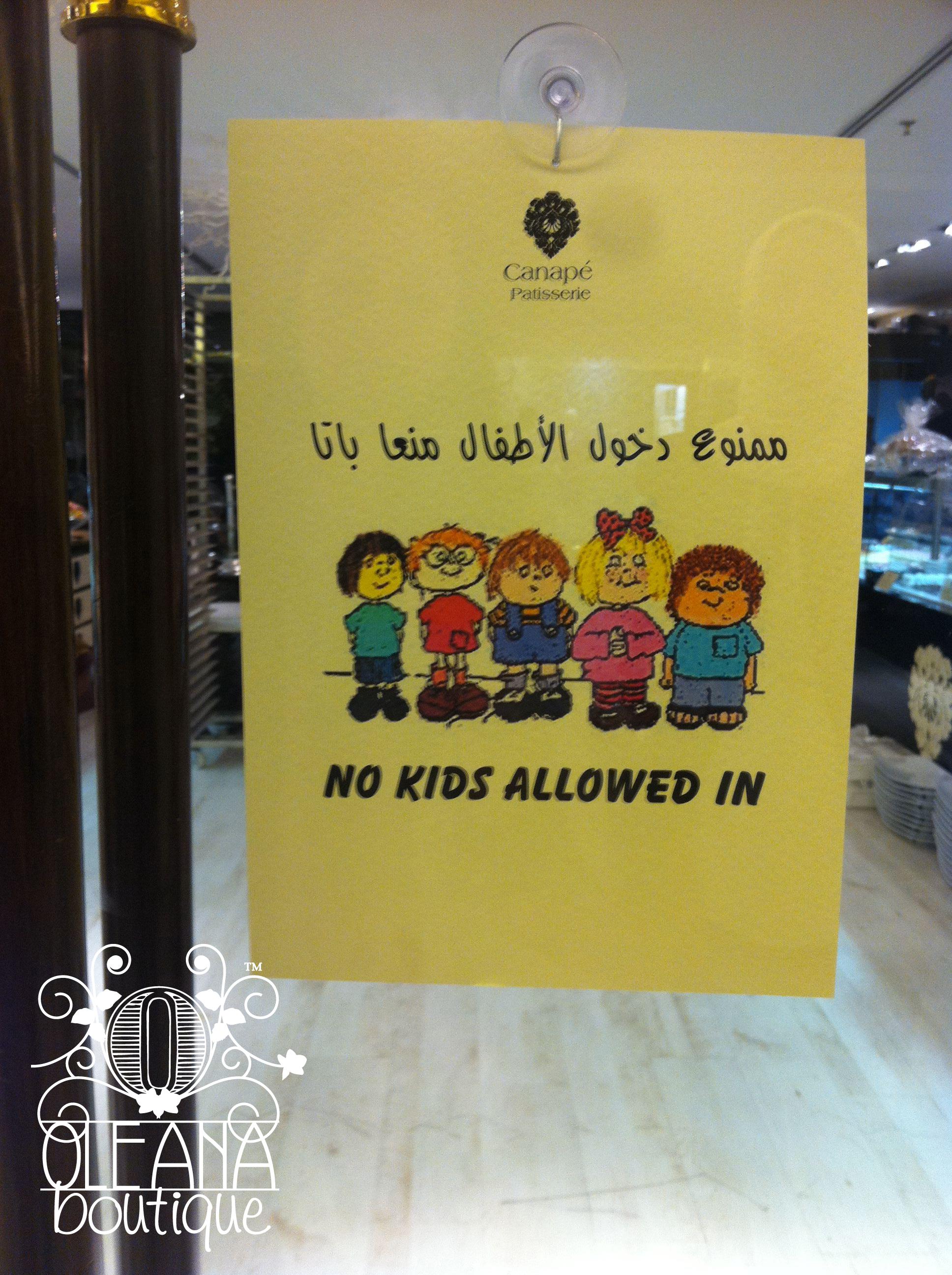 No Kids Allowed Oleana S Blog