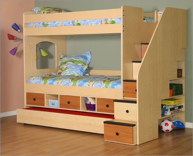 stairs bunk bed plans