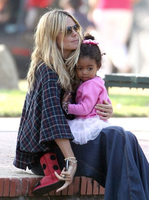 Spotted Heidi Klum S Daughter Lou Wearing Emu Ladybird
