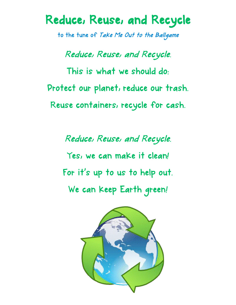 Reduce, reuse and recycle | Oleana's Blog